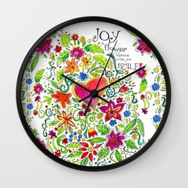 Joy in Your Smile Wall Clock