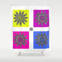 Daisy dot pink 1 Shower Curtain