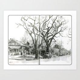Park Hill Cottonwoods Art Print