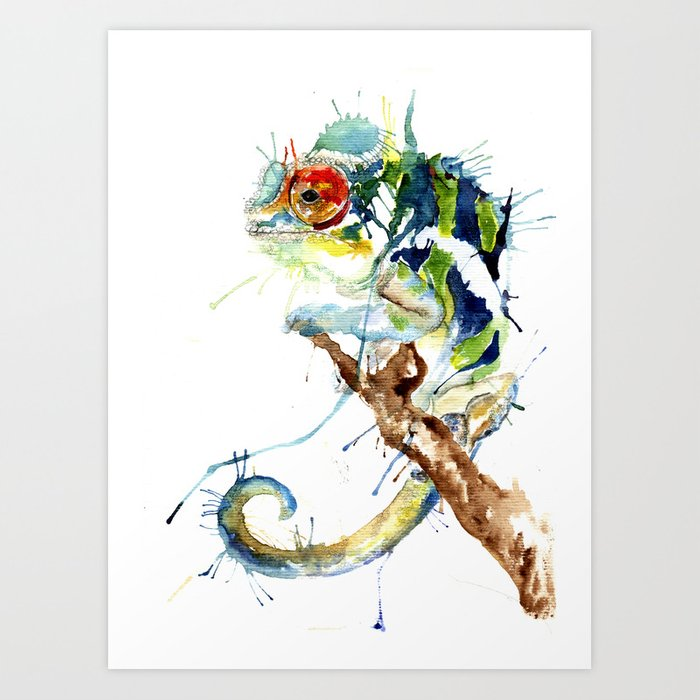 Chameleon Watercolor Tattoo: My Chameleon Art Print By Meganashford