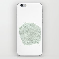 Milan Italy watercolor map iPhone & iPod Skin