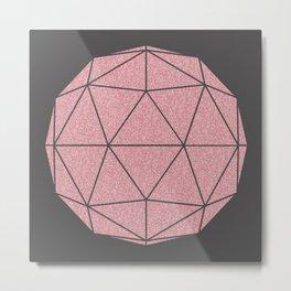 Glitter 3D Dome Metal Print