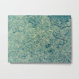 Cracking Blue Metal Print