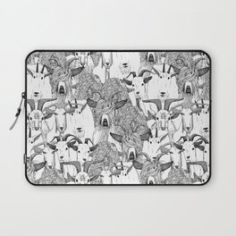 just goats black white Laptop Sleeve