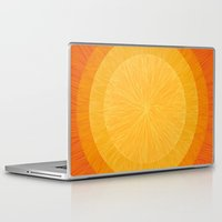 pulp Laptop & iPad Skins featuring Pulp Saffron by Anchobee