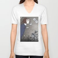 twilight V-neck T-shirts featuring Winter Twilight by Judith Clay