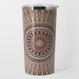 Cappuccino mandala Travel Mug