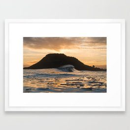 Matakana Gold Framed Art Print