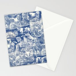 OVER 20 DOG BREEDS KENNEL - Classic Blue Stationery Cards