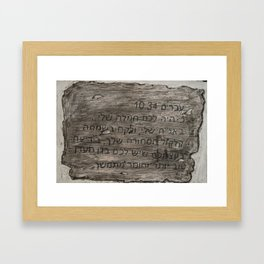 Hebrew 10:34 Framed Art Print