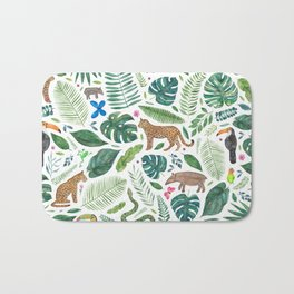 Jungle/Tropical Pattern Bath Mat