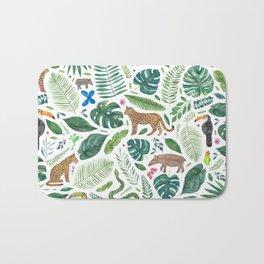 Jungle/Tropical Pattern Bath Mat