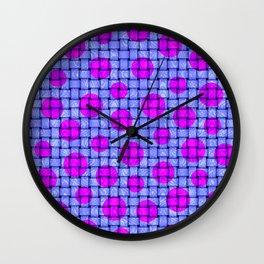 BASKETWEAVE PATTERN 3 Wall Clock