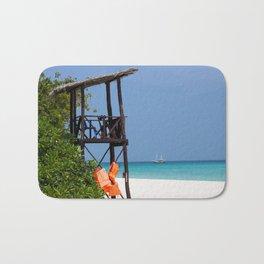 Life guard tower at a dream beach Bath Mat
