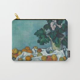 """Paul Cezanne """"Still Life with Apples and a Pot of Primroses"""" Carry-All Pouch"""