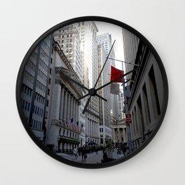New York city street view Wall Clock
