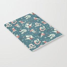 Winter herps in dark blue Notebook