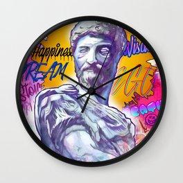 The Philosopher, Marcus Aurelius- Stoic Meditations Wall Clock