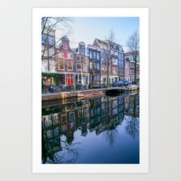 Canal houses in Amsterdam Art Print
