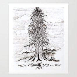 In the Clouds - Solitude Art Print