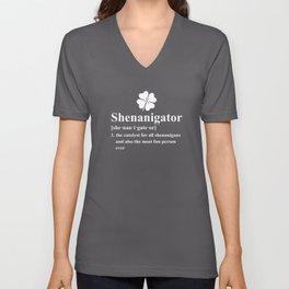 Shenanigator Funny Definition St. Pattys Day Shenanigans Unisex V-Neck