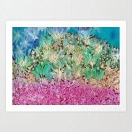 Sea Gouache Art Print