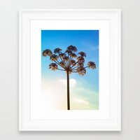 umbrella Framed Art Prints featuring Umbrella by Herzensdinge