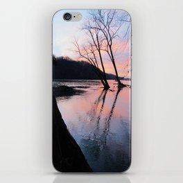 reflecting dusk iPhone Skin