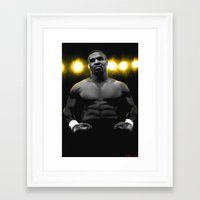 mike tyson Framed Art Prints featuring IRON MIKE TYSON by smARTwork Designs