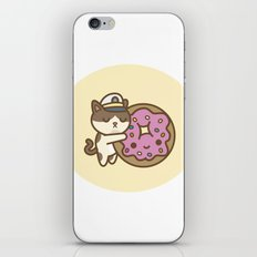 Admiral Whiskers Hugs A Donut iPhone & iPod Skin
