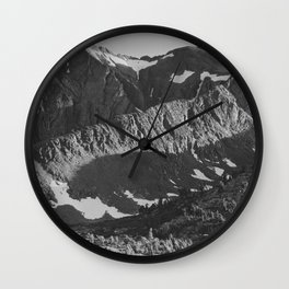 Peak above Woody Lake, Kings River Canyon Wall Clock