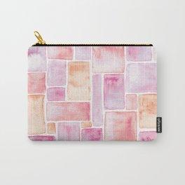 Watercolour Mosaic Pattern   Peach Carry-All Pouch