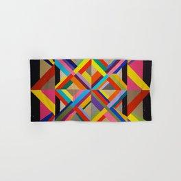 Multi Colour geometric abstract art Hand & Bath Towel