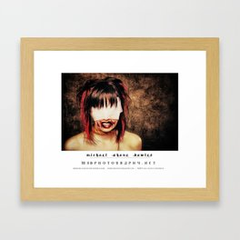 dark things 5 Framed Art Print