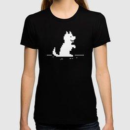 Cute Pixel Dog - Offline No Internet Connection T-shirt