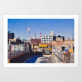 Long Island City Skyline Art Print
