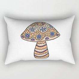 A Single Mushroom (2) Rectangular Pillow