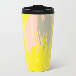 Lovely Summer - Abstract - Coral, Yellow, Sand Travel Mug