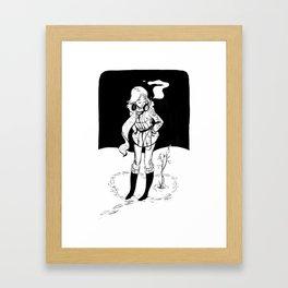 Snowy Heart Framed Art Print