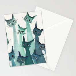 Knoxville Whimsical Cats Stationery Cards
