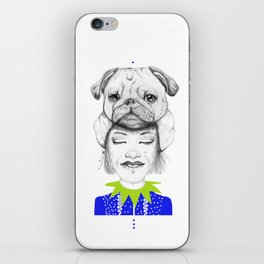 Mystic Pug iPhone Skin