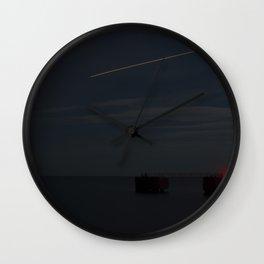 Martha's Vineyard Pier Glow. Wall Clock