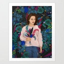 Lana in the jungle Art Print
