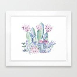 Desert Love Cactus + Succulents Framed Art Print