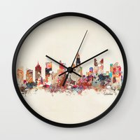 ohio Wall Clocks featuring columbus ohio by bri.b
