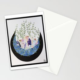 Crystals on the moon Stationery Cards