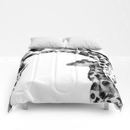Black and white giraffes Comforters