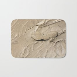 FootPrint in Hidden Sinking Sand - Crack my Heart Bath Mat