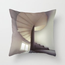 Spiral frontal Throw Pillow
