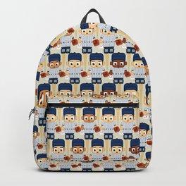 Baseball Pinstripes White and Blue - Super Cute Sports Stars Backpack